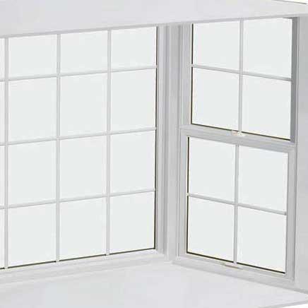 Wooden bay windows